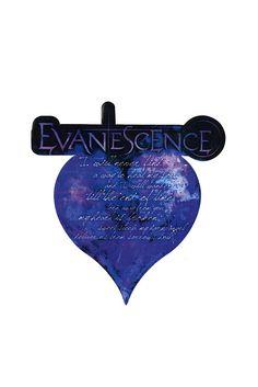 "Evanescence ""My Heart is Broken"" lyrics sticker"