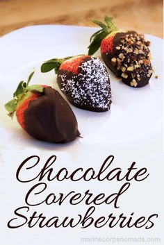 Naturally gluten free chocolate covered strawberries for Valentine's Day