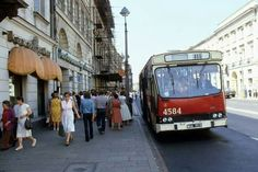 Nowy Świat, 1982 Warsaw City, Warsaw Pact, Warsaw Poland, Ppr, Train Car, Socialism, City Photo, Street View, Europe