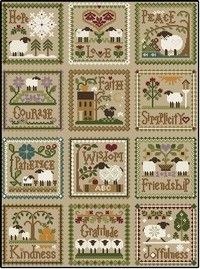 "Projet Little House Needleworks ""Little sheep virtues"""