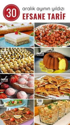 Turkish Recipes, Italian Recipes, Turkish Sweets, Turkish Kitchen, Turkish Salad, Dessert Recipes, Desserts, Yummy Recipes, Food Test
