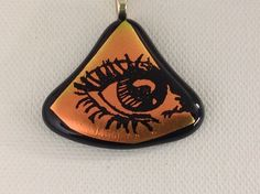 It's Fr-eye-day haha Hand etched egyptian eye necklace