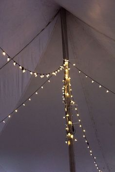 Fairy lights and tents