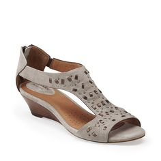 Thimble Clover in Stone Suede & Synthetic - Womens Sandals from Clarks