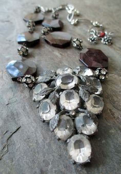 GARNETS AND GRAPES vintage assemblage necklace by The French Circus, $169.00