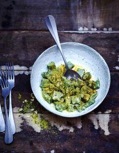 Gnocchis au kale, pesto de pistaches