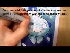 Draw underwater scenes with Copics