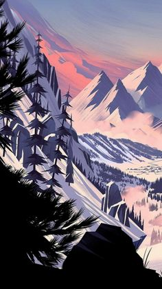 34 Ideas mountain landscape background for 2020 Scenery Wallpaper, Landscape Wallpaper, Nature Wallpaper, Landscape Art, Wallpaper Backgrounds, Landscape Paintings, Mountain Landscape, Landscape Clipart, Landscape Sketch