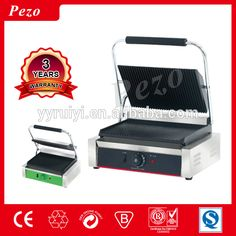 TGH-811E high quality electric industrial panini grill/contact grill/commercial grill sandwich maker