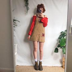 4237958464 Gorgeous warm oatmeal cord mini pinafore dress