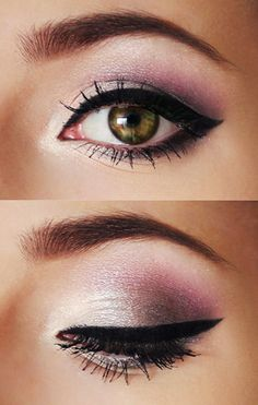smokey eye with touch of pink