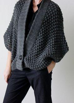 Ravelry: ElenaKuzmina's Gray jacket - convert to crochet Crochet Jacket, Knit Crochet, How To Purl Knit, Crochet Woman, Gray Jacket, Crochet Clothes, Knit Cardigan, Hand Knitting, Knitwear