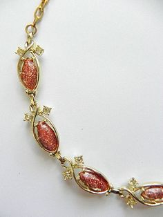 Vintage Goldstone Necklace by SongSparrowTreasures on Etsy, $15.00