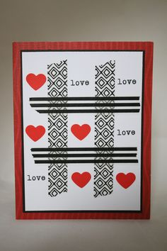 Melrose Paper Designs - Naughts and Crosses style card with love twist. Perfect for Valentine's Day, Anniversarys or Weddings. Blank inside and envelope included. Heart Cards, Anniversary Ideas, Paper Design, Crosses, Envelope, Valentines Day, Hearts, Weddings, Love
