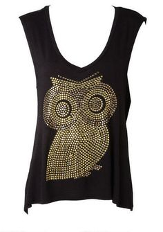 X-BK Owl Tank - View All Tops - Tops - Clothing - Alloy Apparel