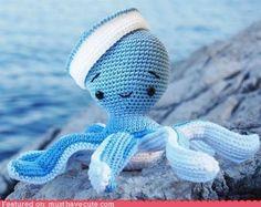 cute kawaii stuff - Amigurumi Octopus Sailor