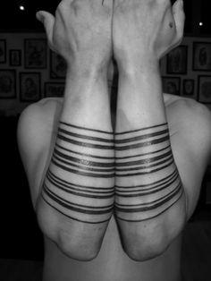 multi line tattoo