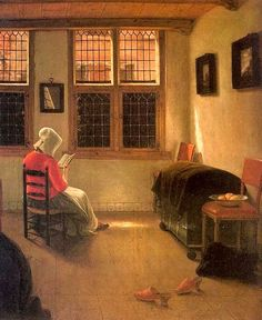 Reading woman, 1668-1670      The musicians      Interior with painter    Pieter Janssens Elinga   born August 18, 1623 in Bruges, Belgium...