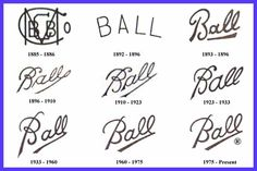 Chart to help you know the date of your ball jars