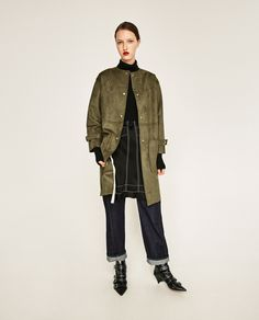 FAUX SUEDE COAT-View all-OUTERWEAR-WOMAN | ZARA United States