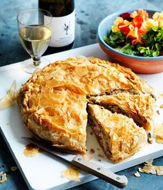 Greek chicken pie with leeks & zucchini | Gourmet Traveller