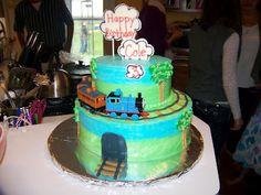 Cole's train cake
