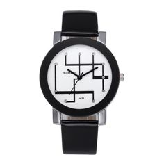 WOMAGE A433 Fashion Quartz Wrist Watch Casual Personality Leather Band Couple Watch