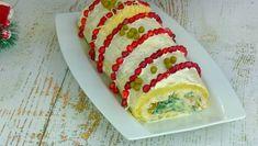 """Рецепт изумительно красивого и вкусного салата на новогодние праздники """"Король стола"""" Christmas Party Food, Food Art, Sushi, Ethnic Recipes, Recipes, Salads, Sushi Rolls"""