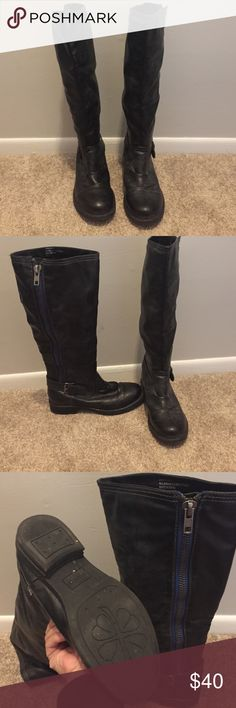 Madden Girl - LIKE NEW! Black Boots Black boots worn once. Calf is too wide for me. Size says 6M but fits like a 6.5M. I love these! They're in like new condition. Shoes Combat & Moto Boots