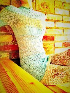 YuMo Knitting. Рullover. Пуловер крючком, кр. № 2. Хлопок+шелк+кашемир 2400/100гр.