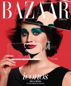 Katy Perry x Elizabeth Taylor via Warhol  / Harper's Bazaar España September 2015