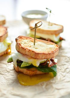 Perfect Breakfast Sandwiches with Spicy Gruyere Hollandaise
