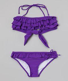 22c69e5b2d Look what I found on  zulily! Purple Clara Bikini - Girls by Sunshine Zone
