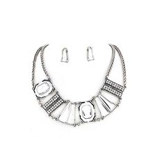 Joji Boutique - deluxe silver bib necklace and earring set,  (http://www.jojiboutique.com/products/deluxe-silver-bib-necklace-and-earring-set.html/)