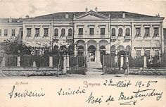 SMYRNA, TURKEY ~ LE KONAK, THE GOVERNOR'S RESIDENCE ~ used German P.O. 1905