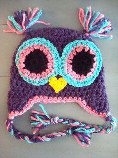 Baby Girl Owl Beanie