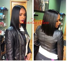 wanna give your hair a new look? Weave bob hairstyles is a good choice for you. Here you will find some super sexy Weave bob hairstyles, Find the best one for you, My Hairstyle, Pretty Hairstyles, Straight Hairstyles, Black Hairstyles, Quick Weave Hairstyles Bobs, Sew In Bob Hairstyles, Love Hair, Gorgeous Hair, Natural Hair Styles