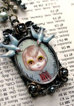 Juice- custom Blythe cameo by Mab Graves | Flickr - Photo Sharing!