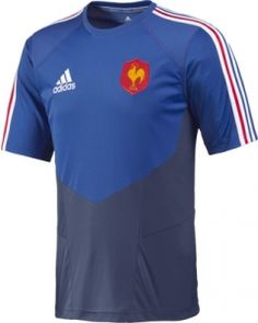 f65f3779e7715 NOUVEAU - Tee-shirt XV de France RUGBY - performance officiel - ADIDAS  France Rugby