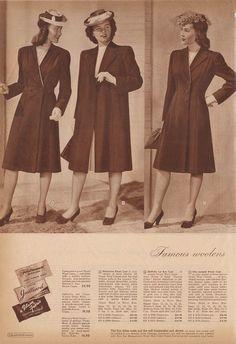 The Closet Historian: Cataloging Catalogs: Montgomery Ward Spring Summer 1943 (Coats!)