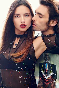 Adriana Lima, Bar Refaeli, Miranda Kerr & Irina Shayk for Harper's Bazaar 'Romeo & Juliet' Carine Roitfeld Editorial November 2...