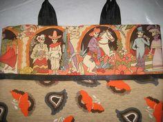 OC High School of the Arts OShop handmade totebag. Dia de los Muertos