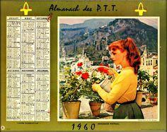 Calendrier 1960 Avec Les Jours.Les 62 Meilleures Images De Calendrier Ptt De 1960 A 1980