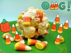 Cakespy: Candy Corn Popcorn Balls