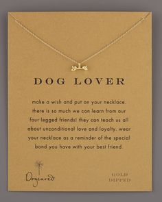Dog Lover Bone Necklace by Dogeared at Neiman Marcus.