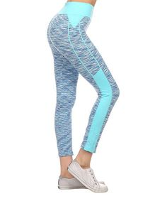 Another great find on #zulily! Candy Blue Seamless Performance Crop Leggings #zulilyfinds