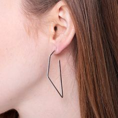 Subtle Earrings No2 - Silver - alt_image_two