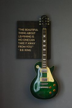 Guitar Wall Hanger B. King Quote by on Etsy Acoustic Guitar Case, Guitar Stand, Music Inspired Bedroom, Guitar Wall Hanger, Guitar Storage, Band Rooms, King Quotes, Guitar Room, Old Music