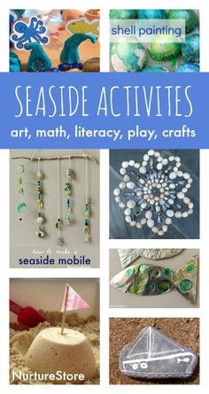 Seaside crafts and beach activities for kids is part of Beach crafts Eyfs - Seaside theme activities, beach art, seaside crafts and ideas for an under the sea topic Fish crafts, sea creature printables Fish Crafts, Beach Crafts, Summer Crafts, Crafts For Kids, Summer Fun, Family Crafts, Summer Holiday Activities, Holiday Themes, Holiday Ideas