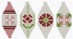 Wieke van Keulen: Kerstballen patronen - Stop AIDS Now Knitted Christmas Decorations, Knit Christmas Ornaments, Frugal Christmas, Noel Christmas, Christmas Knitting, Beaded Cross Stitch, Cross Stitch Patterns, Knitting Charts, Knitting Patterns